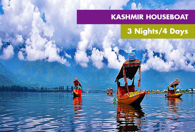 Kashmir Houseboat Tour With Gulmarg 3 Nights / 4 Days
