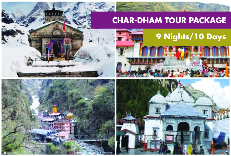 Chardham Tour Package From Haridwar 9 Nights / 10 Days